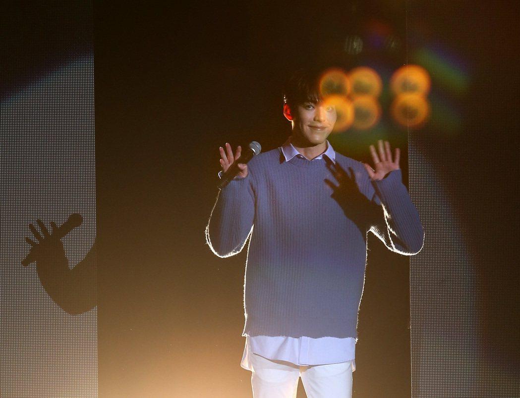 韓國男星金宇彬結束台北見面會後,今天搭機返韓。聯合報系記者林澔一/攝影