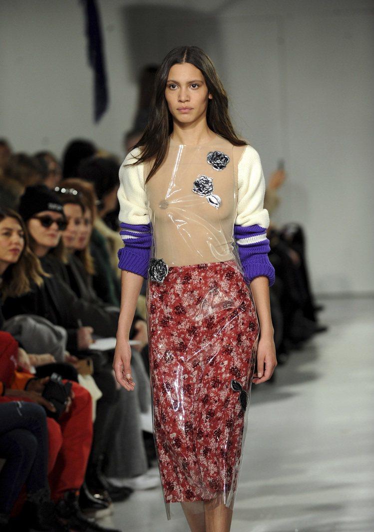 Raf Simons入主Calvin Klein的首場大秀令人驚艷。圖/美聯社
