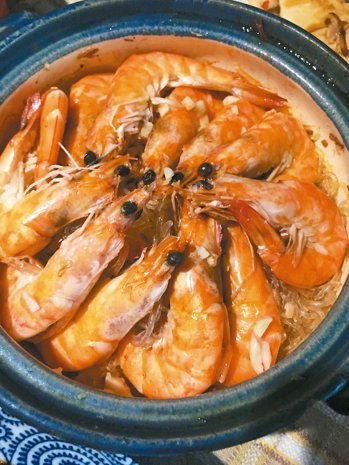 鮮蝦粉絲煲 圖/邵冰如