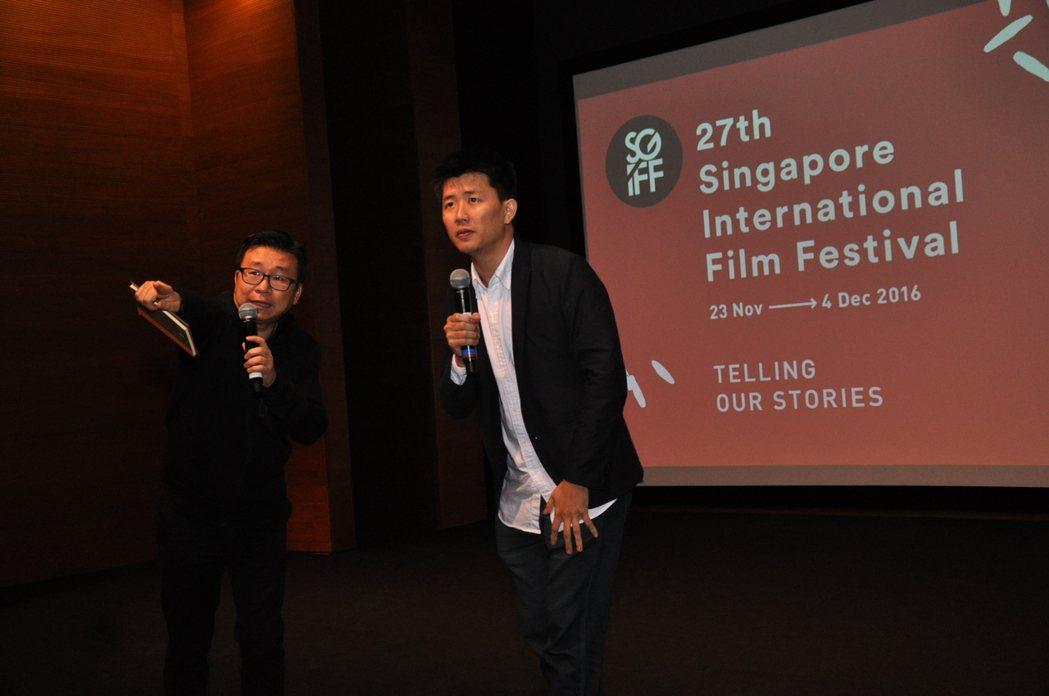 「不即不離」導演廖克發日前曾在新加坡影展映後分享。圖/中影提供