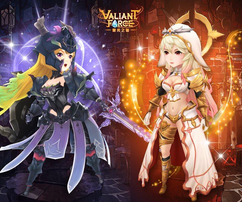 《聖光之誓Valiant Force》維多利亞情人節服飾。圖/趣加集團提供