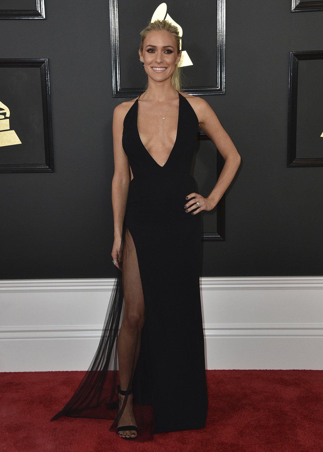 Kristin Cavallari出席第59屆葛萊美獎頒獎典禮。圖/美聯社