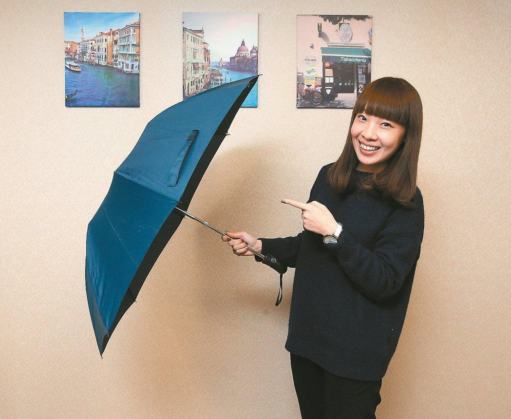 中鋼今年將送鋼骨雨傘。 記者林澔一/攝影