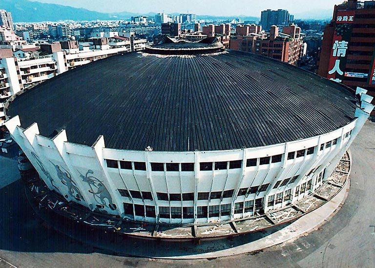 中華體育館燒毀前,是台北市數一數二的運動場館。報系資料照
