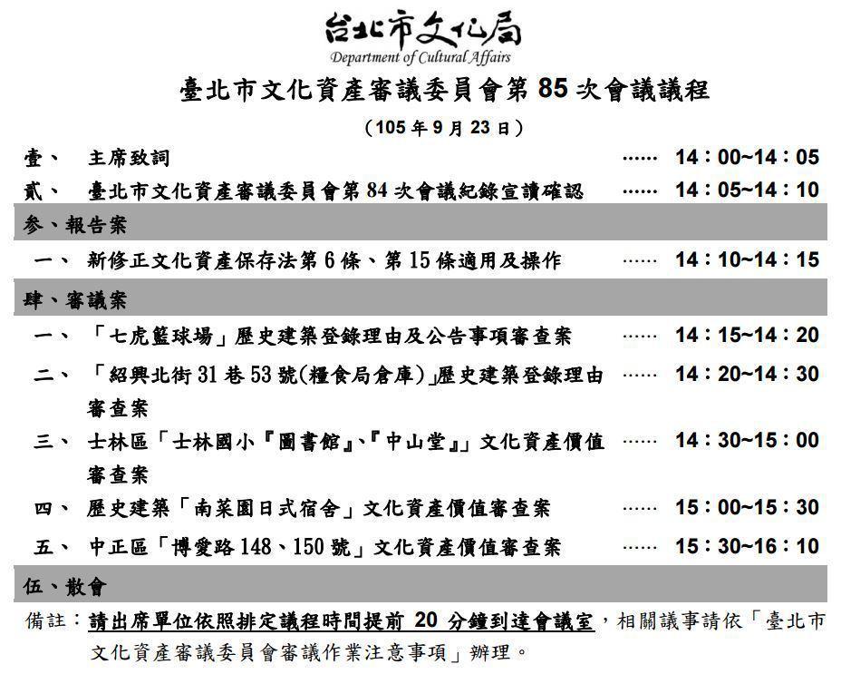 列冊時已知道菊元百貨本名,審議議程卻刻意迴避僅使用門牌號碼,似為避免受到過度關注。 圖/作者提供