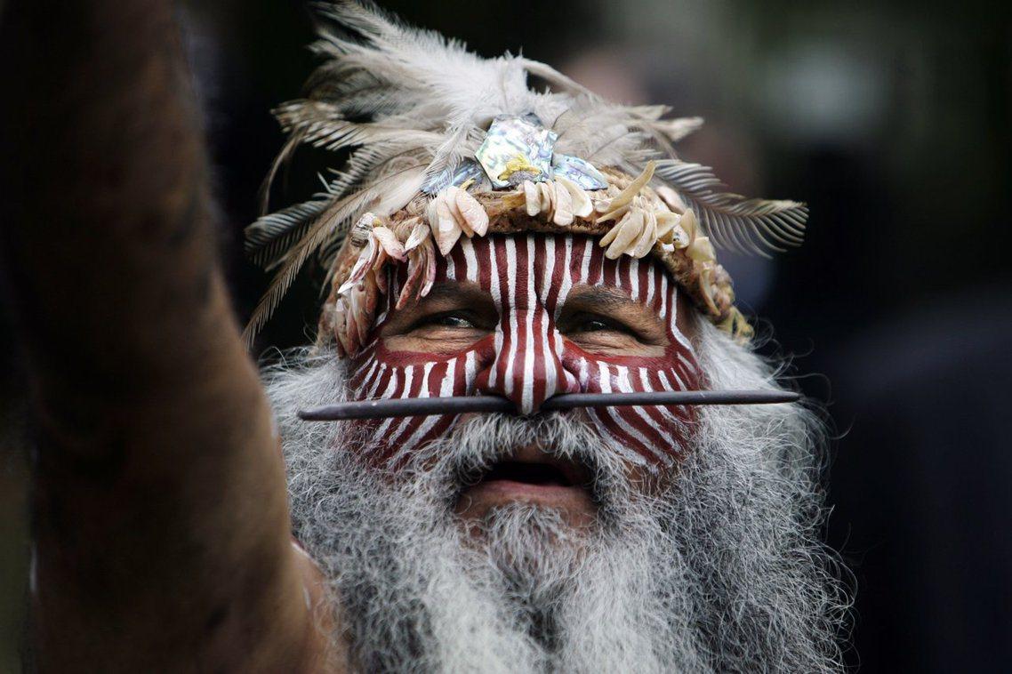 澳洲原住民Ngarrindjeri族的長老。 圖/美聯社