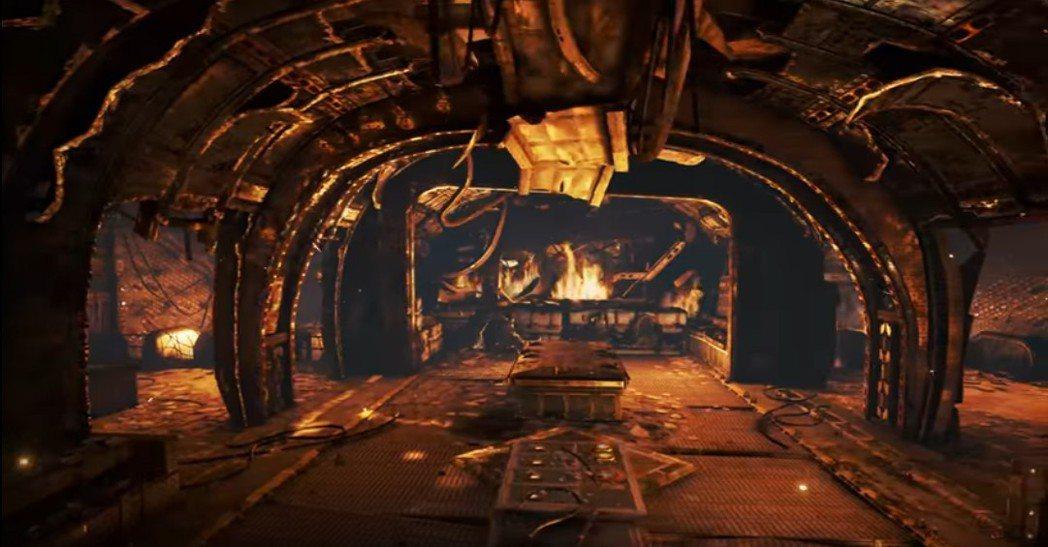 《戰爭機器4》改版全新地圖「暗夜失事點」帶給玩家刺激的對戰快感。圖/微軟提供