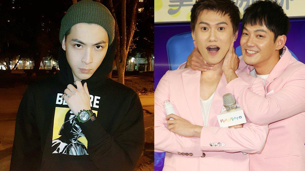 晨翔(左)、毛弟(右圖左)、威廉(右圖右)。 圖/擷自晨翔臉書、記者陳正興攝影