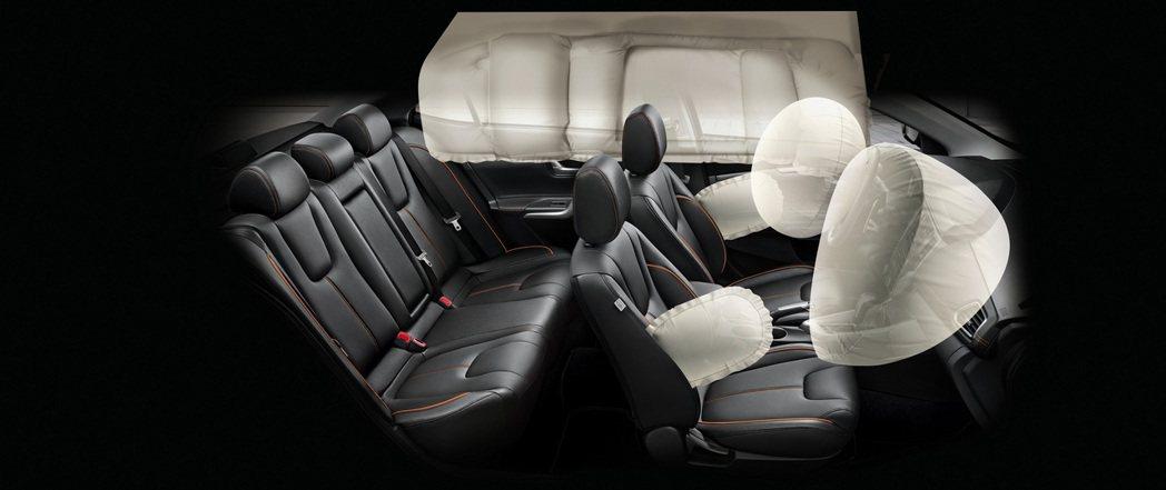 全車系標配十二項安全防禦配備,另外高階車型也提供6SRS安全氣囊。 圖/中華三菱提供
