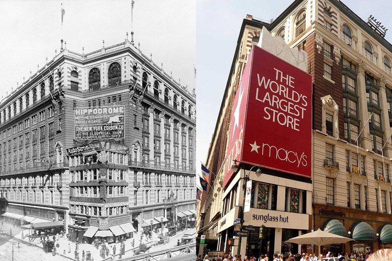 1924年落成的紐約梅西百貨公司比菊元百貨早開幕,然時至今日都還在持續維護使用持...