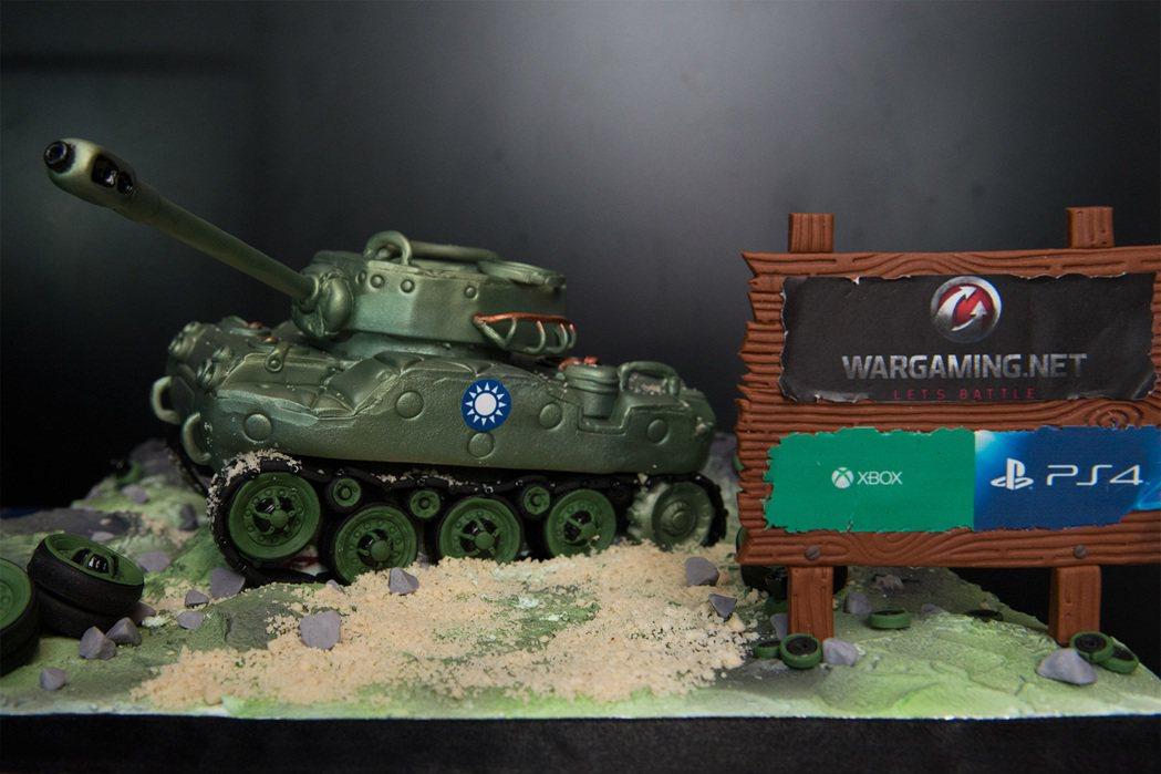 Type 64翻糖戰車:《戰車世界:家用主機版》週年紀念。