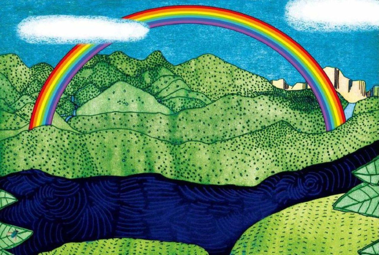 最後,暴雨停歇,你翻到下一頁,在沒有文字的頁面上,一道美麗彩虹橫跨大地。