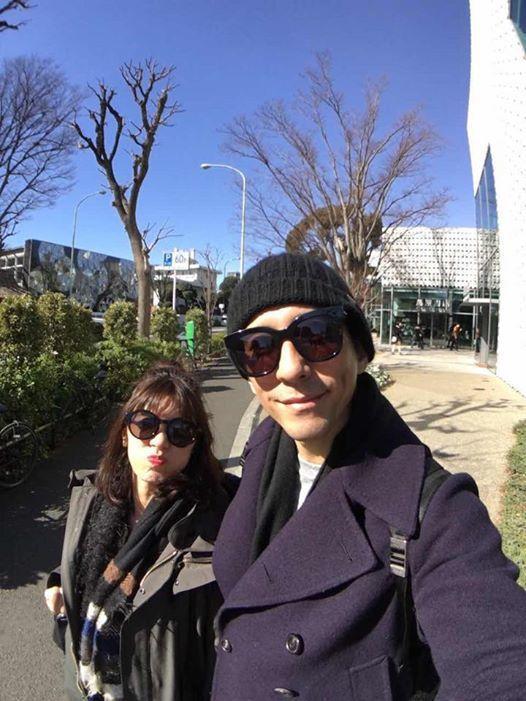 賈靜雯(左)、修杰楷到東京旅遊過情人節。圖/摘自臉書