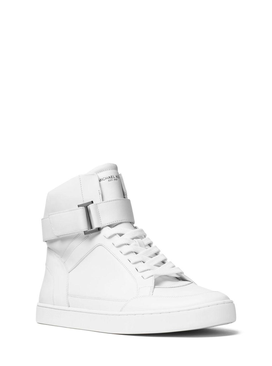 ANTHONY白色皮革高筒休閒鞋,售價12,100元。圖/MICHAEL KOR...