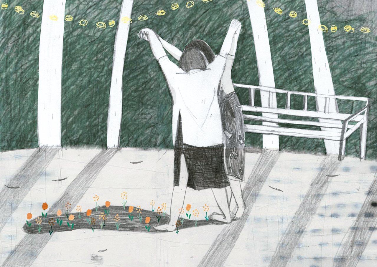 心情點滴日落中的形影 圖/PPAN
