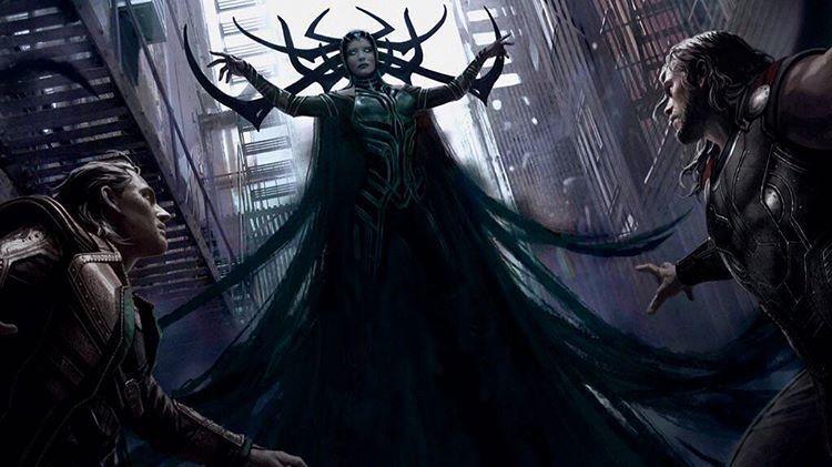 冥后海拉的造型也首度將在「雷神索爾3:諸神的黃昏」中登場。圖/取自於臉書