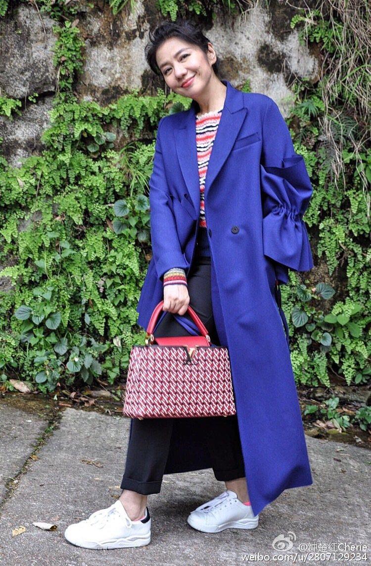 「紅姑」鍾楚紅已經56歲,但逆天美顏依舊讓人驚艷。圖/取自於微博