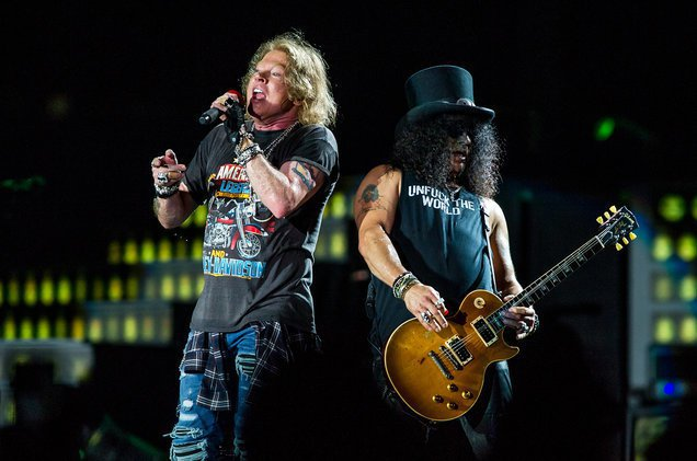 美國搖滾天團槍與玫瑰(Gun N' Roses)在澳洲演出。 圖/擷自billb
