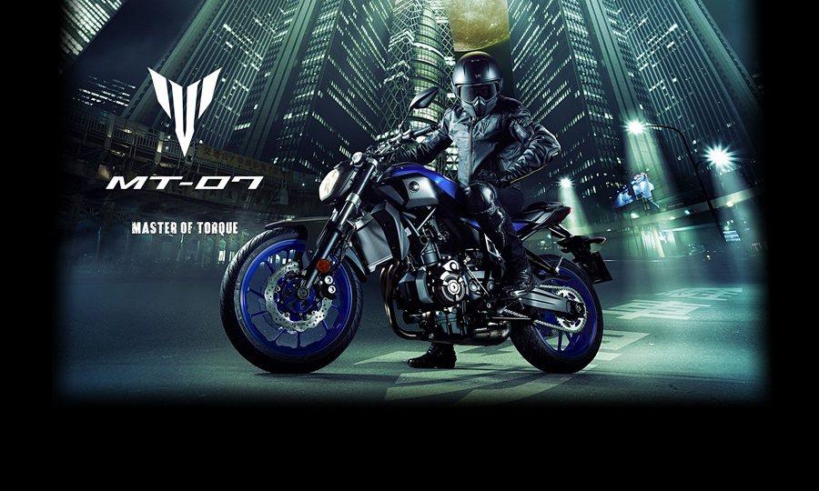 MT-07 2017最新配色,以藍與黑色為主。 Yamaha台灣山葉提供