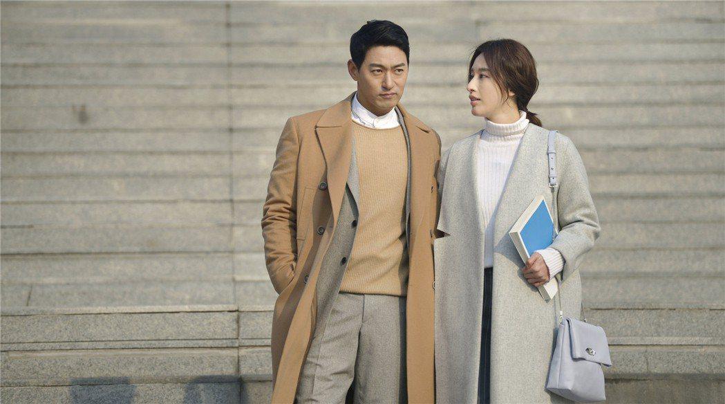朱鎮模和張儷日前合演「親愛的對不起」。 圖/擷自微博。