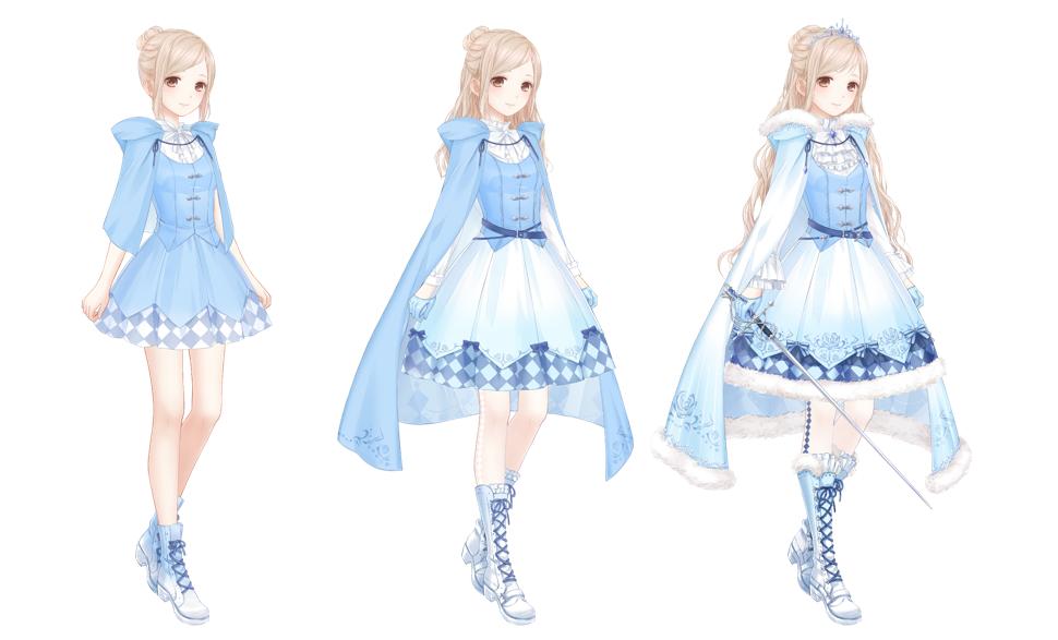 「公主的戎裝」可透過服裝進化,蒐集更多造型。