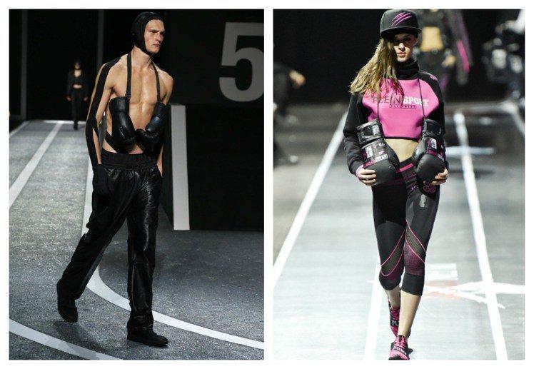 左圖為Alexander Wang和H&M合作系列,右為Philipp Plei...