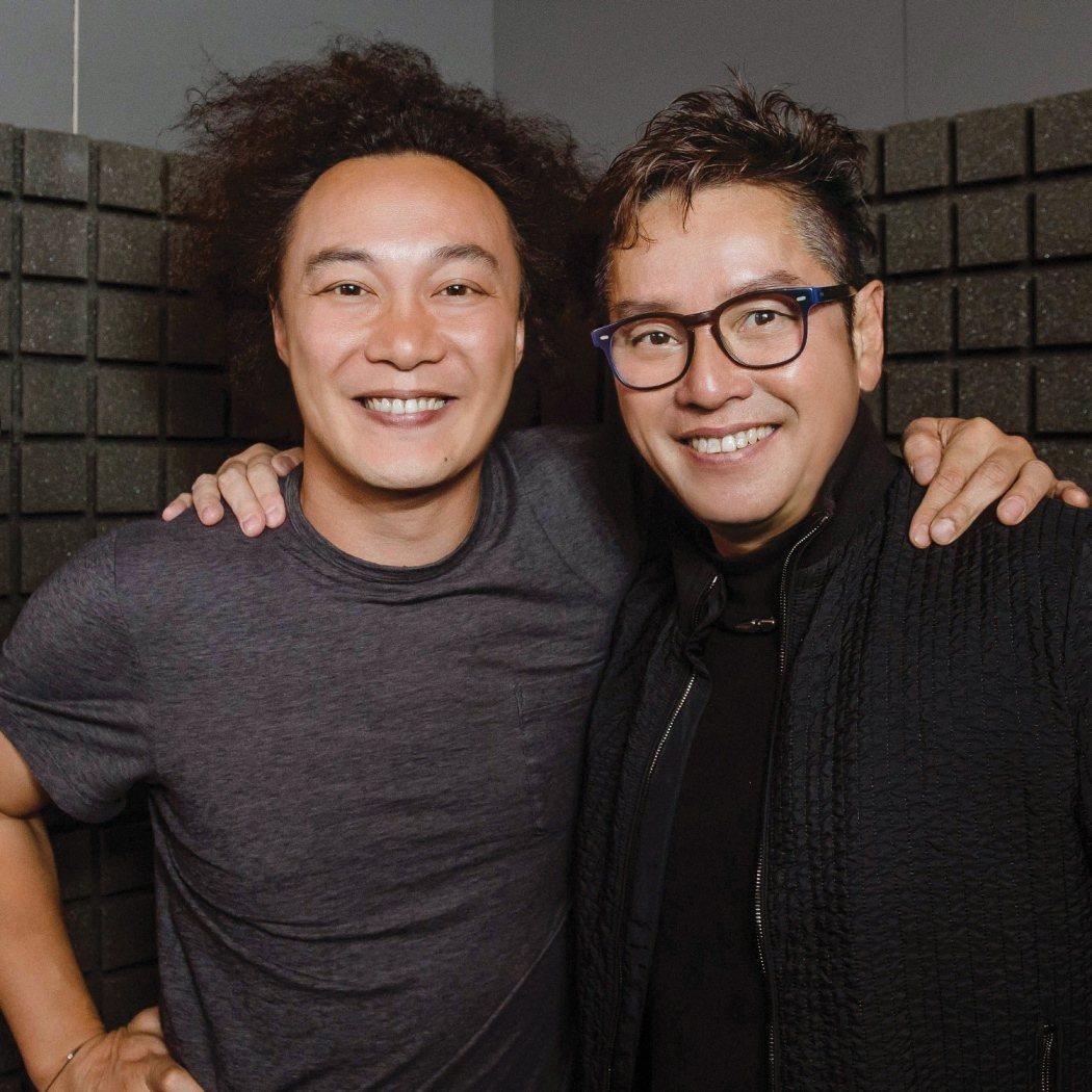 譚詠麟(右)國語新歌找陳奕迅合唱。圖/環球提供