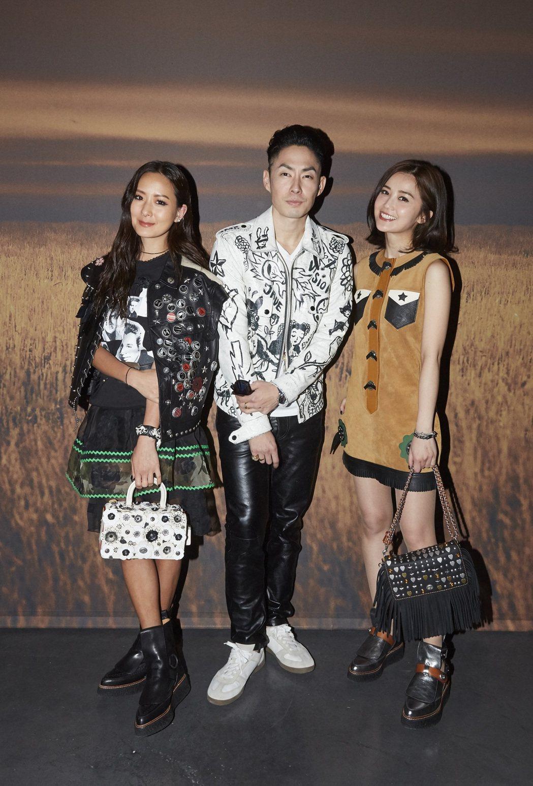 孫芸芸、吳健豪和蔡卓妍出席COACH紐約大秀。圖/COACH提供