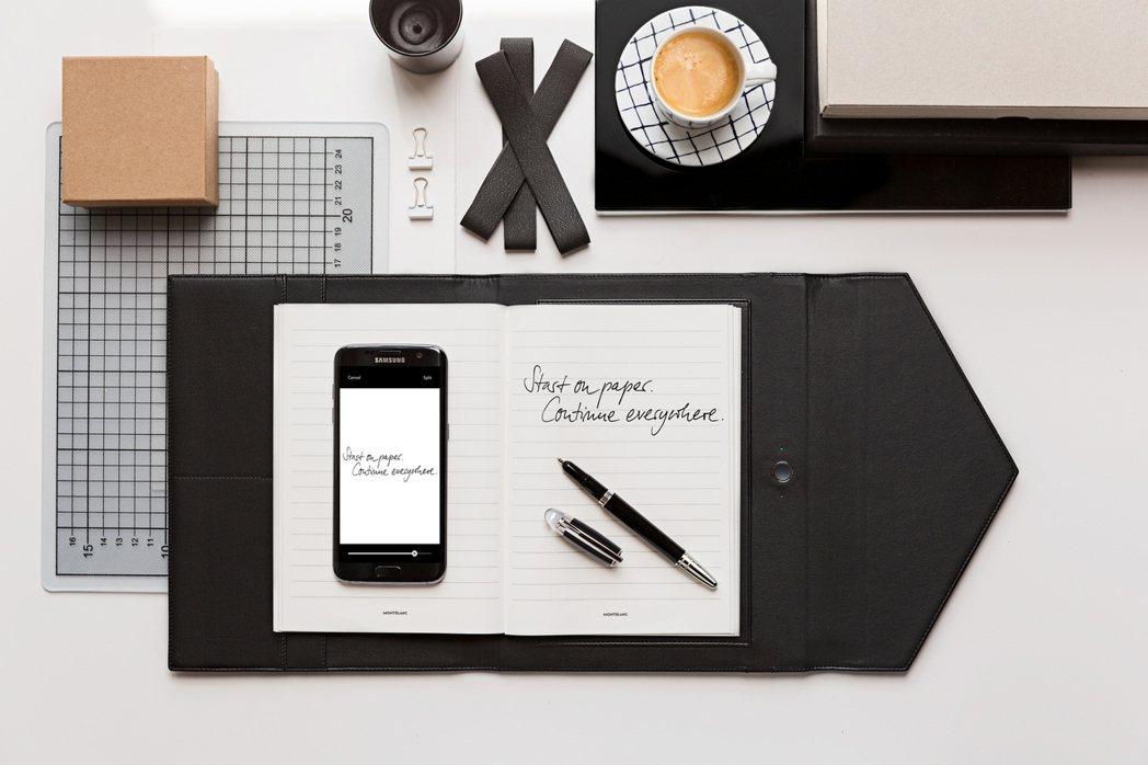 萬寶龍數位擴增筆記本(含書寫工具),24,000元。圖/Montblanc提供