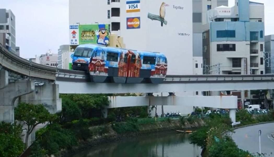 台南規畫中的高架單軌捷運獲行政院支持,動工有望,圖為模擬。圖/台南市交通局提供