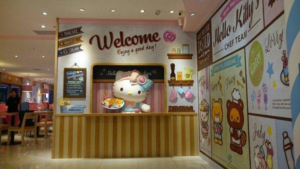 搬家後重新開幕的Hello Kitty Kitchen And Dining,目...
