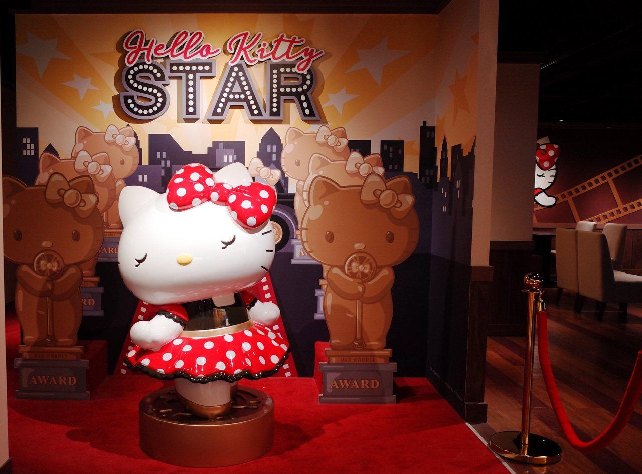 Hello Kitty Red Carpet美式餐廳處處可見化身好萊塢明星的Ki...