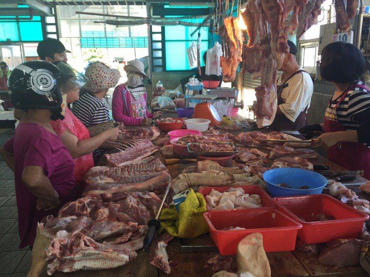 豬肉攤。圖/聯合報系資料照