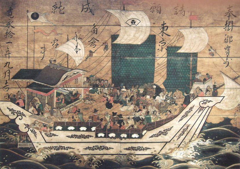 圖為獲得幕府許可,與安南國進行朱印船貿易的商人角倉了以,其所擁有的角倉船。 圖/...