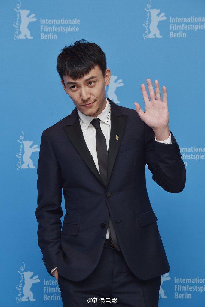 電影「龍先生」的記者會,張震的逆齡新髮型成為粉絲討論的話題之一。圖/摘自微博