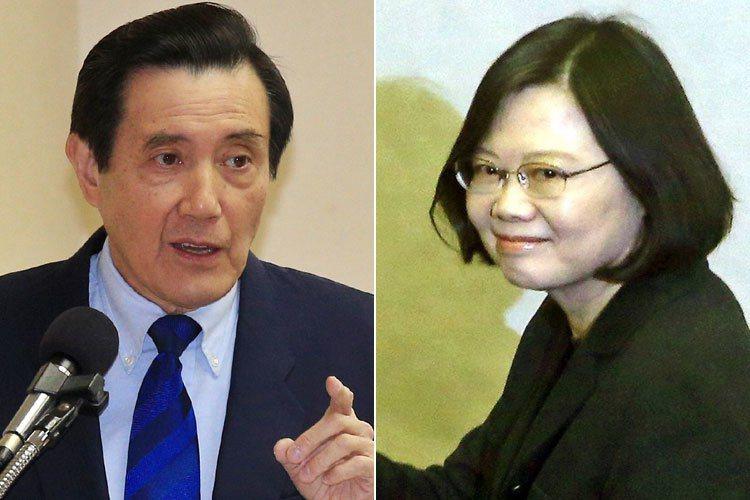 TVBS今公布國內主要政治人物聲望最新民調,蔡英文(右圖)總統聲望29%,排名第...