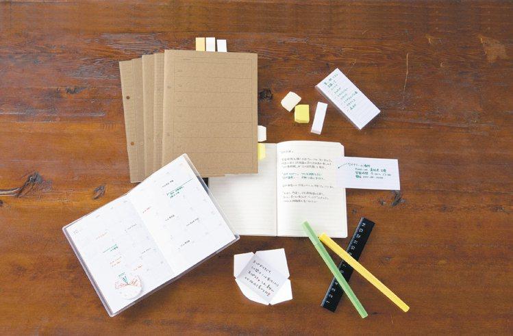 無印良品推出好學生筆記達人文具系列。 圖/無印良品提供