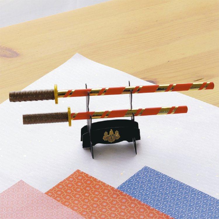 日本武將名刀造型鉛筆組,豐臣秀吉款,300元。 圖/台隆手創館提供
