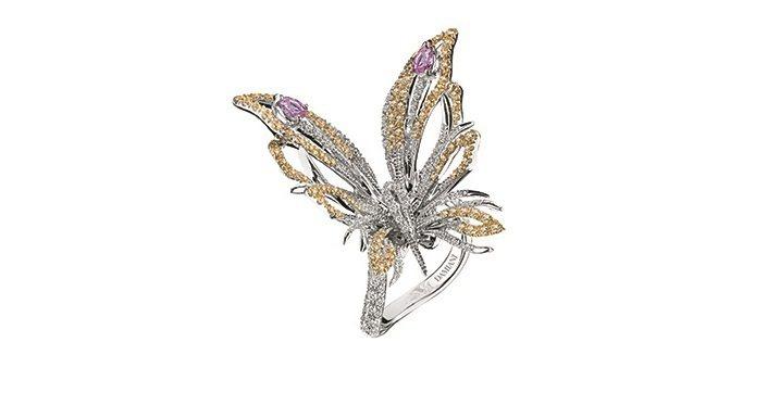 BUTTERFLY彩蝶系列戒指,47萬4,000元。圖/DAMIANI提供