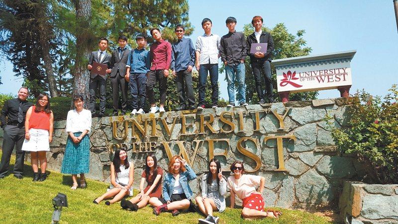 準新生在入學前的暑假,就可以到美國西來大學參加英語遊學團。圖/佛光大學提供