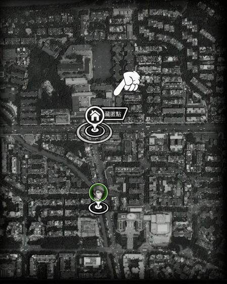 地區探索是以Google衛星圖的方式呈現,可放大可縮小。幸運的是在點與點的移動過...