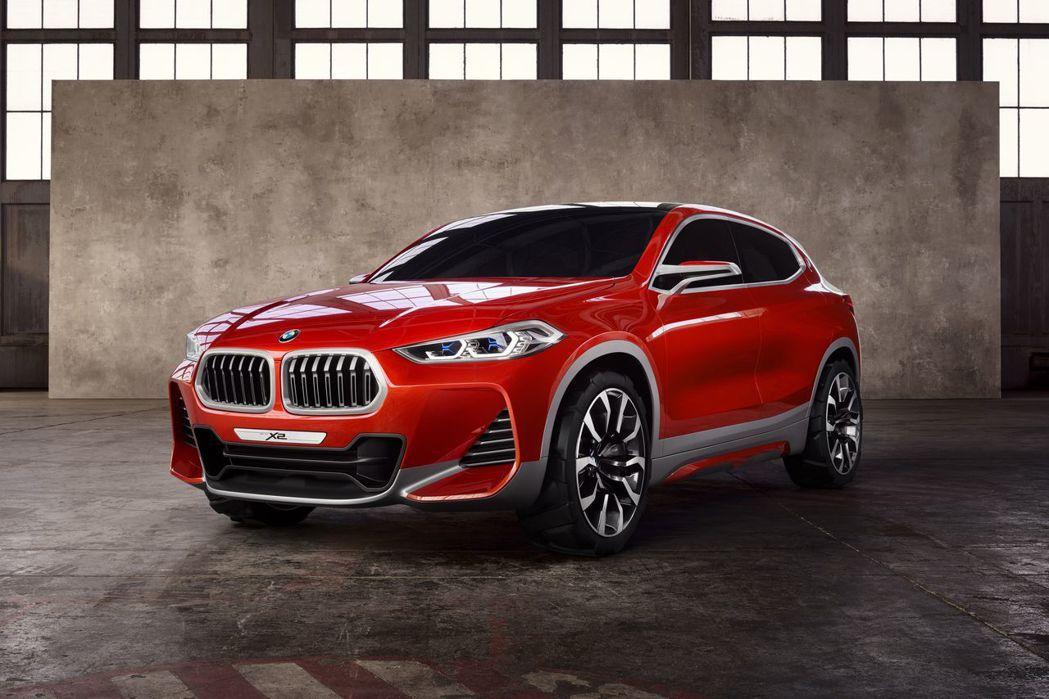 BMW X2 Concept。 圖/BMW提供