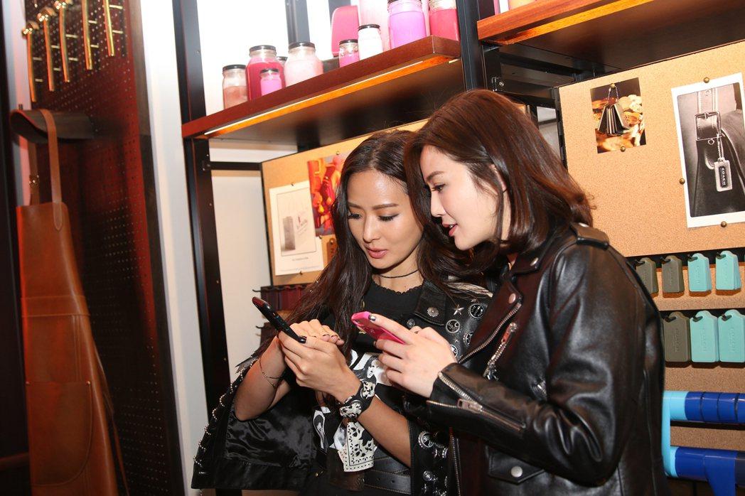 孫芸芸和蔡卓妍是本次COACH邀約的看秀嘉賓。圖/COACH提供