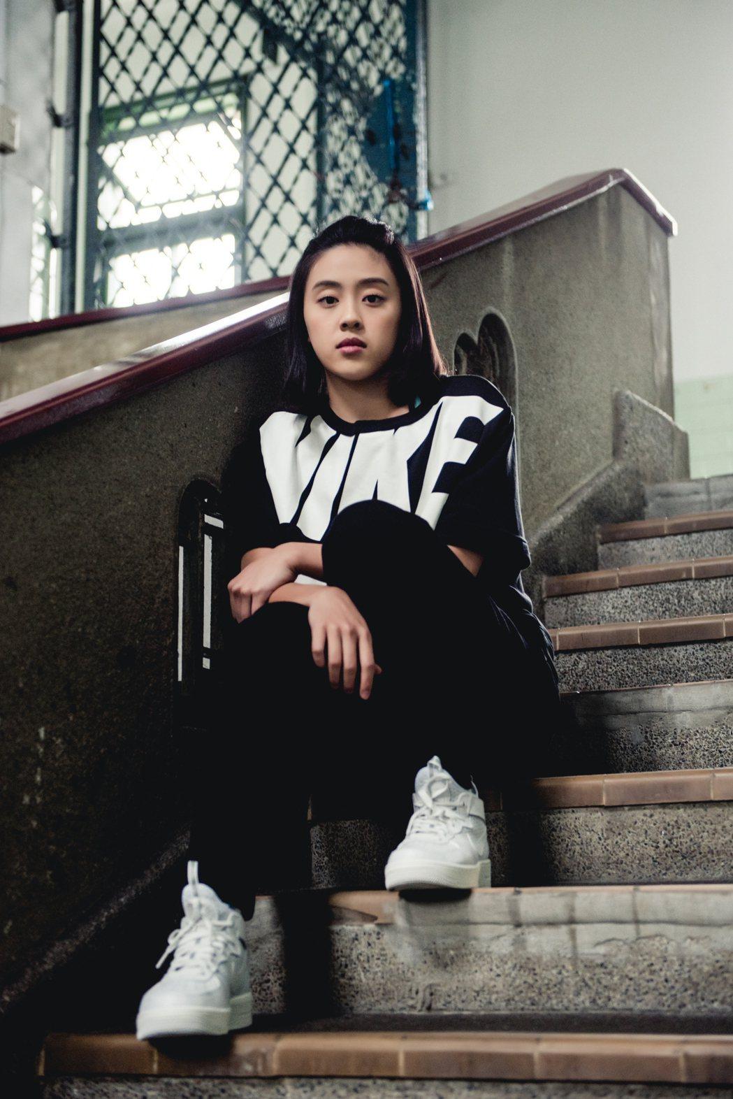 游舒涵喜歡黑白簡單風。   圖/Nike提供
