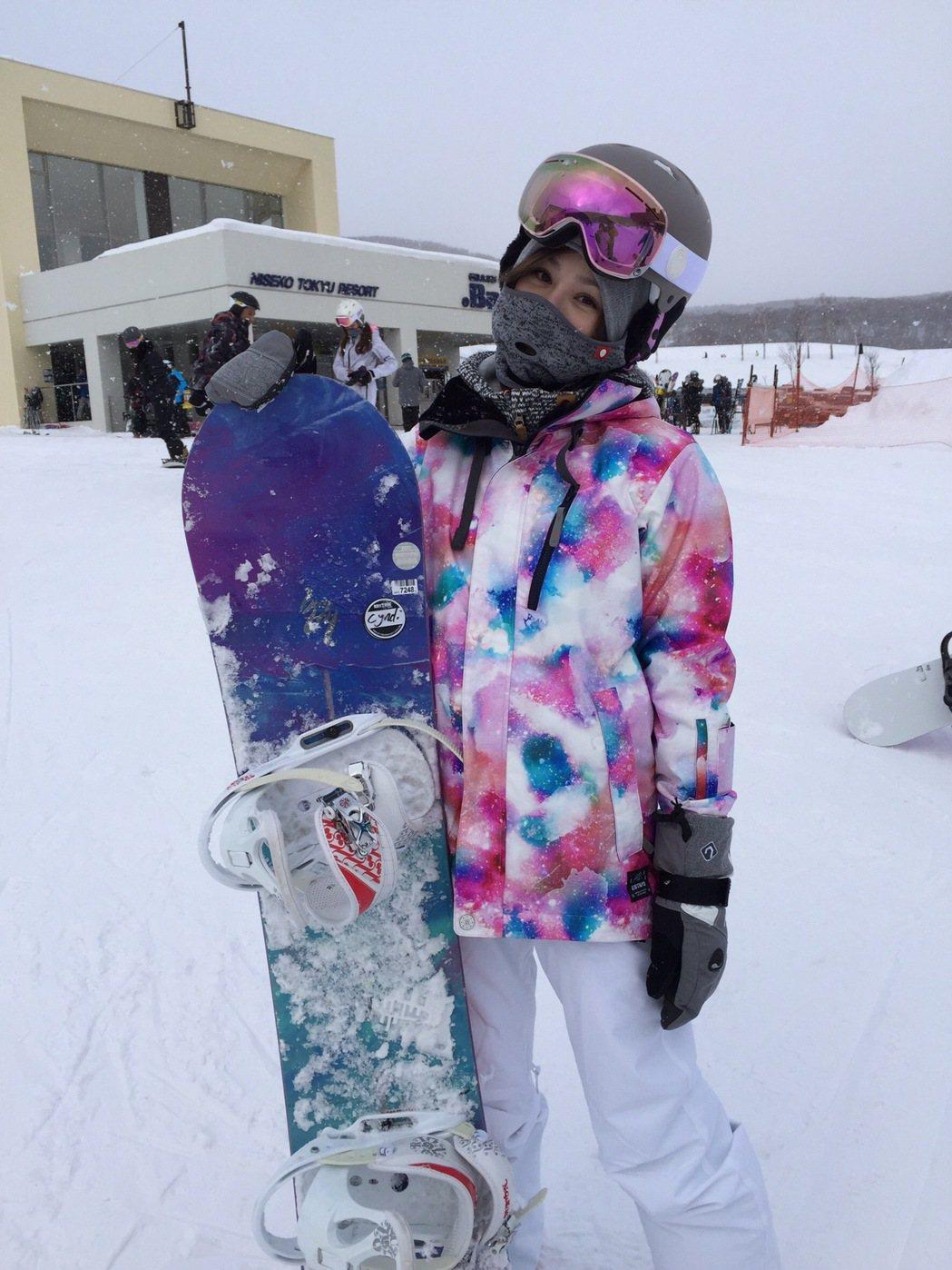 王心凌日前到北海道滑雪度假。圖/天晴音樂提供