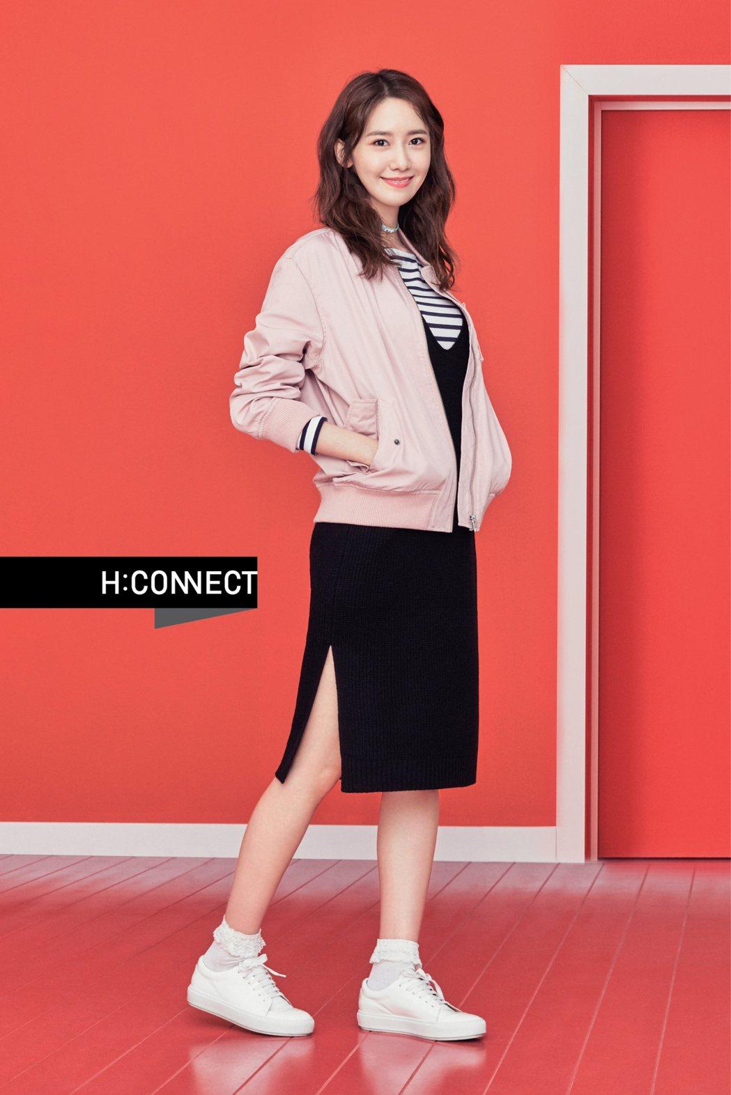 潤娥代言韓國平價服飾H:CONNECT 春裝形象照。圖/H:CONNECT 提供