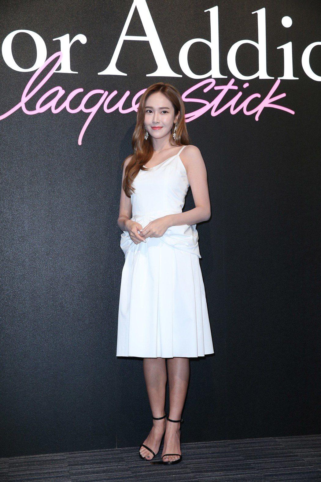韓星Jessica鄭秀妍來台出席迪奧派對。記者陳瑞源/攝影