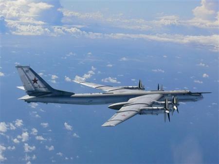 俄國Tu-95長程戰略轟炸機。路透