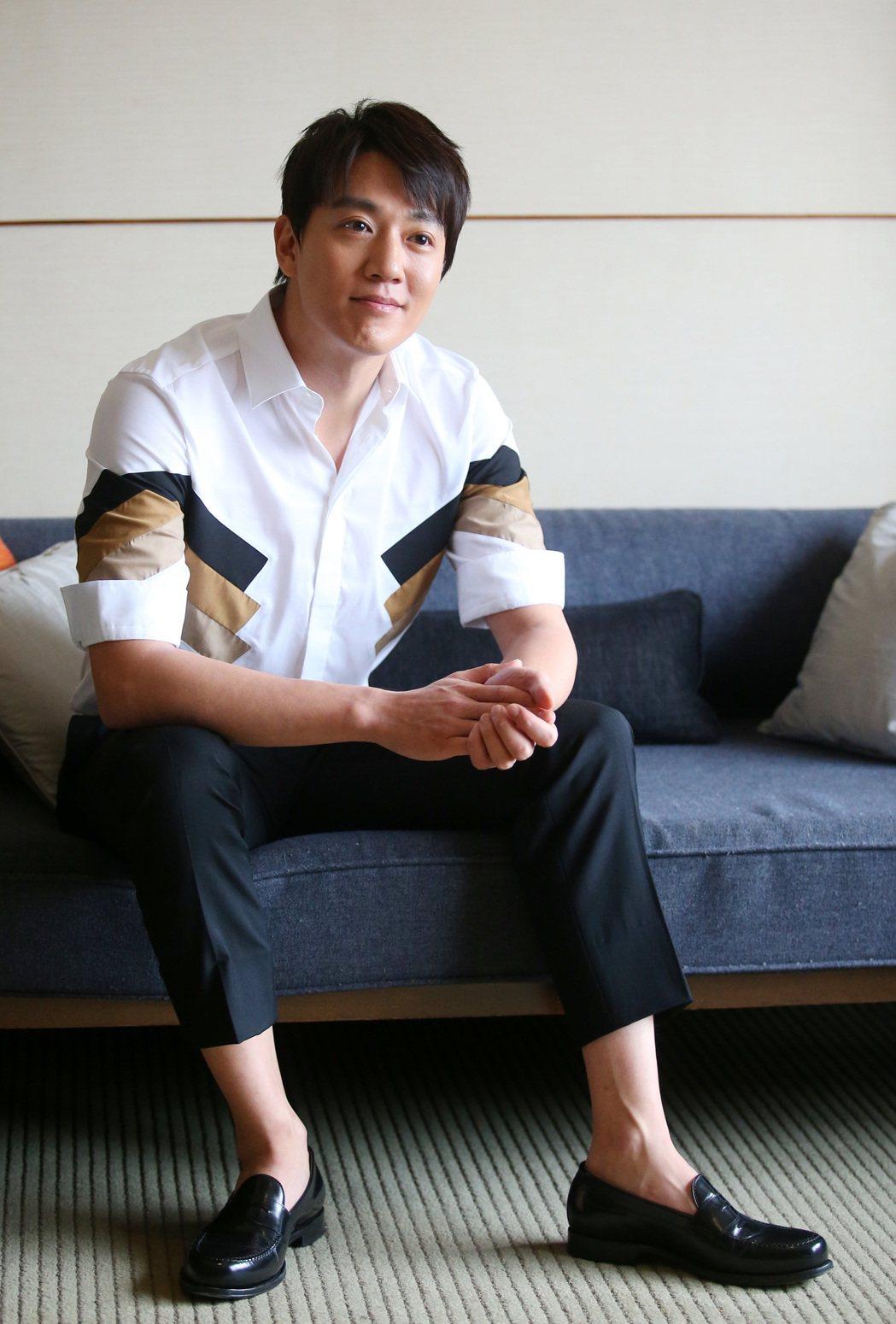 韓星金來沅來台準備舉辦粉絲見面會。記者王騰毅/攝影