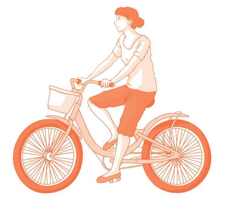 坐墊較高,膝蓋可以伸直 圖/摘自時報出版《自己的膝蓋自己救》